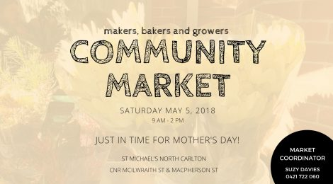 St Michael's Community Market makers bakers growers